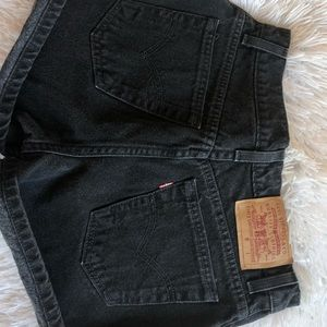 Levi Strauss black shorts